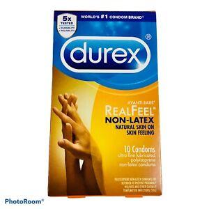 DUREX RealFeel Non-Latex Material Ultra Fine Lubricated Condoms (10) 05/2023 NEW