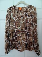 JOE FRESH LADIES SIZE SP L. SLEEVE ANIMAL PRINT TOP-GIRAFFE-POLYESTER-LKN