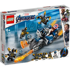 Lego Marvel Avengers Captain America Outriders Attack Building Set - 76123