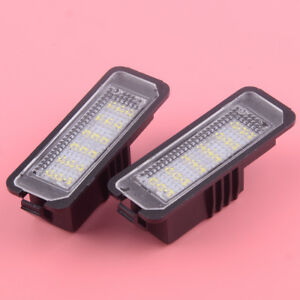 Fit for Seat Altea Exeo ST Ibiza Leon Pair LED License Number Plate Light Lamp