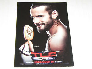 2012 Topps WWE World Class Events Tables, Ladders & Chairs TLC 2011 CM Punk AEW