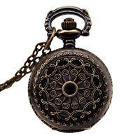3X(Watches Vintage Bronze 31.5 pouces Chain Antique Pocket Watch Fashion Gi 7F1)