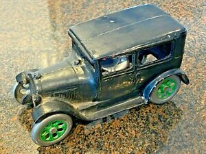REAL DEAL ARCADE CAST IRON FORD MODEL A TUDOR BLACK W. DRIVER AS FOUND! LOW $