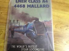 nostalgisches Blechschild Eisenbahn Mallard Rekord LNER Class A4 4468 Dampflok