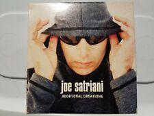 JOE SATRIANI: ADDITIONAL CREATIONS 4 TRACK PROMO! [2000 SONY MUSIC] NEAR MINT!