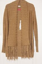 **NEW + TAGS** GUESS Designer Gold Wool Open Fronted Cardigan 10 Years RRP £75