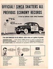 1958 SIMCA  ~  CLASSIC ORIGINAL PRINT AD