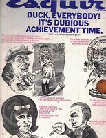 Esquire Magazine January 1970 Evel Knievel Francine Gottfired