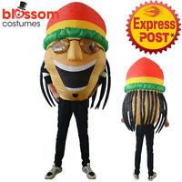 CL737 Men Jamaican Rasta Hero Fancy Dress Costume Bobsleigh Bobsled Team Sports