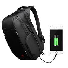 """15"""" Laptop Backpack Notebook Tablet Bag Waterproof External USB Charger Back Bag"""
