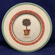 Villeroy & Boch 1748 CRANBERRY Festive Memories Topiary Salad Plate Germany