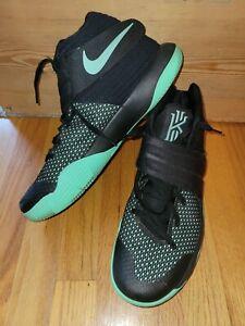 Nike Kyrie Irving 2 Black & Green Glow819583-007 Men's US Size 12