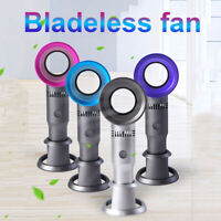 USB Rechargeable Portable Bladeless Hand Held Cooler Mini No Leaf Desk Fan