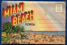 Miami Beach Florida river Indian Creek Rivo Alto Island postcard folder