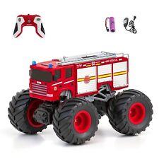 2,4 GHz RC ferngesteuertes Feuerwehr Auto Monstertruck mit Licht & Sound