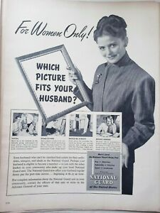 Vintage 1948 US National Guard Reserves Print Ad
