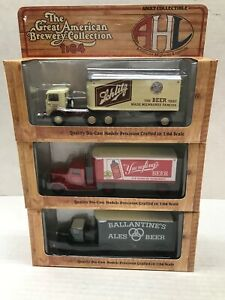 LOT OF 3 HARTOY GREAT AMERICAN BREWERY COLLECTION 1/64 SCALE TRACTOR TRAILERS