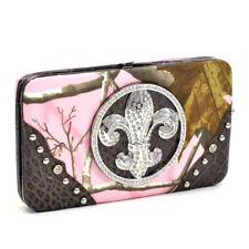Women Handbag Faux Leather Purse Checkbook Bag Card Holder Wallet