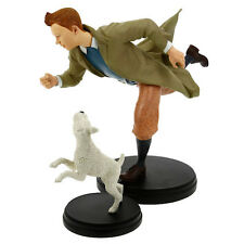 TINTIN MOULINSART HERGE 01042 MOVIE STATUE TINTIN AND SNOWY h 23cm