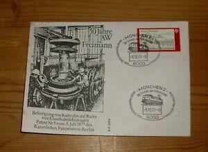 Briefumschlag, 50 Jahre AW Freimann, mit Briefmarke gestempelt