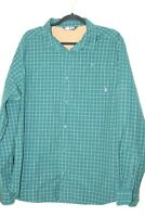 The North Face Mens Button Front Shirt Multicolor Plaid Long Sleeve Pocket L