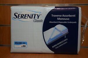 Serenity Classic Traverse 30 pz 80x180 Assorbenti Monouso Bordi Rimboccabili
