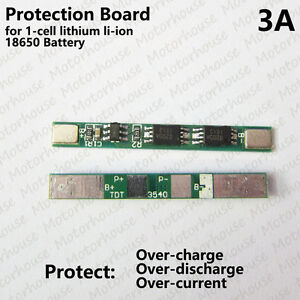 1S 3A PCB Protection Circuit Board for 3.7v 4.2V 18650 Li-ion lithium Battery