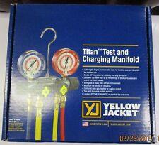 "YELLOW JACKET TITAN 4-VALVE MANIFOLD W/ RYB+1 60"" HOSES R410A - 49965"