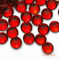 Red 1-6mm Crystal Glass Bling Flatback Rhinestone Scrapbook Nail Art Craft Gems