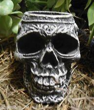 latex mold celtic skull candle holder rubber casting mould