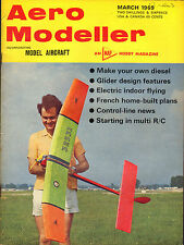 aero - modeller march 1969 : french home built plans