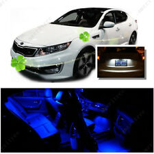 For Kia Optima w/ sunroof 2011-15 Blue LED Interior Kit +White License Light LED