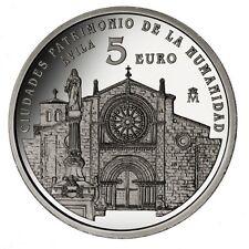 ESPAÑA 5 euro plata 2014 AVILA  - Ciudades Patrimonio de la Humanidad