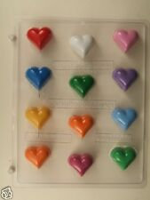HEART BITE SIZE CLEAR PLASTIC CHOCOLATE CANDY MOLD V221