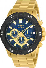 Invicta Men's Pro Diver Quartz Chrono 100m Gold Tone Stainless Steel Watch 24585