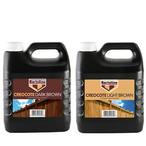 Bartoline Creocote Timber Treatment Oil Based Outdoor Wood Fence & Shed Paint 4L