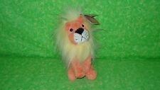 NEW Russ Rainbow Luv Pets LION Plush Stuffed Animal Suede Bean Bag Lovey 5""