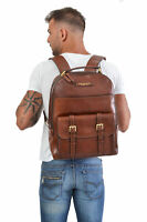 "Zaino Backpack THE BRIDGE large Porta Pc fino a 15"" pelle leather made in Ita..."