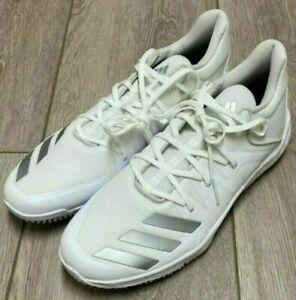 Mens Adidas Speed Turf Baseball Shoes White Silver G27678 NWT