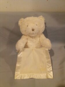 """Baby GUND Peek-A-Boo My 1st Teddy Bear CREAM COLORED/ MOVES AND TALK'S 9 1/2"""""""