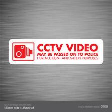 SKU108-vehículo cámara de grabación coche signo en la etiqueta engomada-Cctv-Go Pro-dashcam