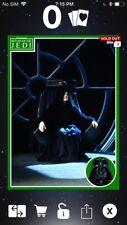 Topps Star Wars Digital Card Trader Green ROTJ Marathon Emperor Insert Award