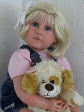 "Reborn 22"" Toddler/baby girl doll ""Abigail"" w.Plush Puppy Dog!"