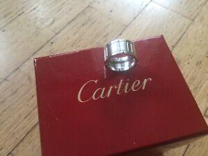 Cartier Ring 750er Weißgold Gr. 55 Panthere  Maillon