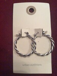 Urban Outfitters Silver Coloured Hoop Earrings