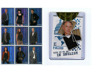 NCIS Rittenhouse 2012 Foil Chase Cards C1 - C9 + Mark Harmon Case Topper CT1