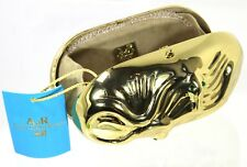ANNA DELLO RUSSO AdR H&M GOLD SNAKE CLUTCH BOX BAG WITH PROTECTOR BAG BNWT RARE