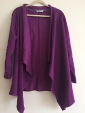 Riders By Lee Eggplant Purple Plus Size 2X Women's Jacket Outerwear Cardigan