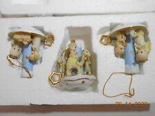 Rare - 2003 Bradford Exchange Precious Moments Nativity Lights Ornaments