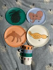Bobo Choses Bamboo Plates and Cups Set of Four